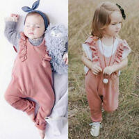 Toddler Baby Girl Ruffle Romper Sleeveless Romper Overall Jumpsuit Pants Outfits