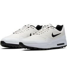 Nike AIR MAX 1 Golf Shoes UK 10 EU 45 US 11 White Black AQ0863 008