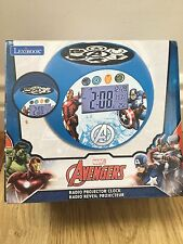 Lexibook Marvel Avengers Radio Alarm Projector kids Clock Brand New