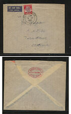 Straits Settlements 226 on cover to Scotland 1937             AT0529