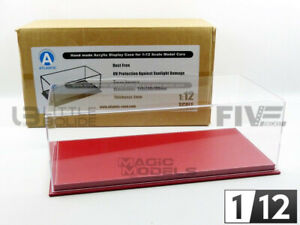 ATLANTIC CASE 1/12 - DISPLAY CASE SHOW-CASE 1/12 - MULHOUSE RED LEATHER - 10091