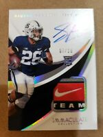Saquon Barkley 2018 Panini Immaculate Collection Rookie Auto Patch # 7/10