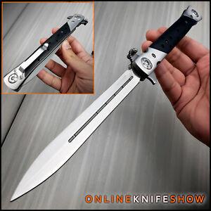 "13"" Extra Large Milano Big Boy Stiletto Blade Assisted Open Folding Pocket Knife"