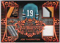JOE THORNTON 2019-20 Leaf Ultimate ULTIMATE CARD Logo Number Shoe Glove #10/15