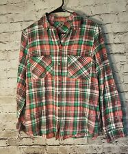 ASOS Women's Shirt Size 6 Button Front Plaid Flannel Long Sleeve t74