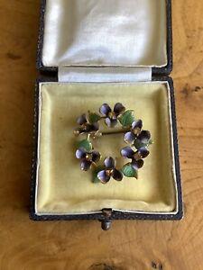 vintage suffragette brooch /Forget Me Not