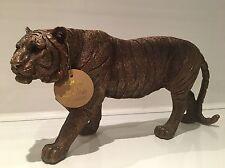 Bronzed Standing Tiger Ornament Figurine Figure Gift Present 30cm Long