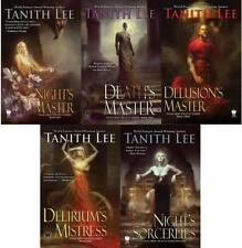 Tanith Lee FLAT EARTH Dark Fantasy Series Paperback Collection Set Books 1-5