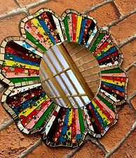 Flower Power Large Hippy Hippie Mosaic Colourful Mirror Wall 1960's Style