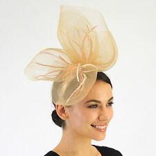 Stylish Ladies JENDI Nude Cream & Peach Formal Racing Fascinator Headband