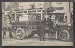 Bristol Tramways & Carriage Co Motor Bus at Brislington Printed Postcard