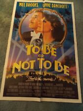 TO BE OR NOT TO BE(1983)MEL BROOKS ORIGINAL ONE SHEET POSTER