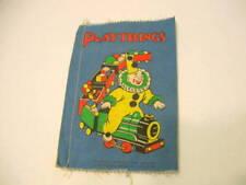 Vintage cloth Dean's Rag Book Playthings Clown Train B365