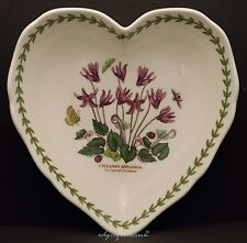 PORTMEIRION BOTANIC GARDEN SCALLOPED EDGE HEART SHAPED DISH CYCLAMEN