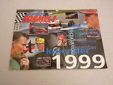 Das Rennsportmagazin Formel 1 Kalender 1999 RAR Schumacher, Hill, Alesi Frentzen