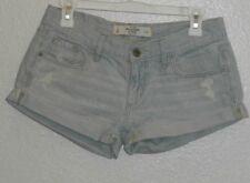 Abercrombie & Fitch striped light blue US Size 0 Waist 25 women's jeans Shorts