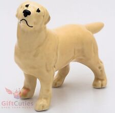 Porcelain Figurine of the Golden Labrador Retriever dog
