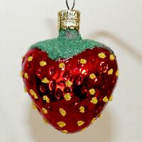 Christmas Ornament Glass FRUIT STRAWBERRY Czech Republic Red VARIETY USA SELLER