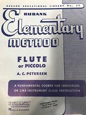 Rubank Elementary Method - Flute or Piccolo (Rubank Educational Library) 4470040