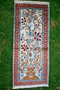 COLLECTORS' ITEM Stunning Tree Of Life Pictorial Very Soft Silk Runner