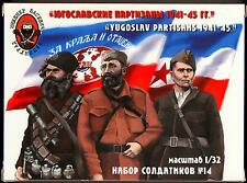 Basevich Figures 1/32 YUGOSLAV PARTISANS World War II Figure Set