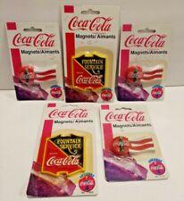 Cocal Cola Vintage Magnets Lot of Five No. 51850 (2) and No. 51691 (3) NIB 1997