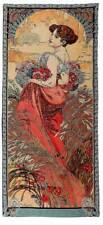 Alphonse Mucha  Die Vier Jahreszeiten, Sommer, Gobelin Wandteppich 100 x 46 cm