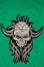 Totenkopf Skull tribal Aufnäher Patch Bügelbild kein Sticker/Pin/Button Rocker