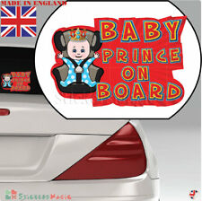Baby On Board Prince LAMINATED Car Sticker Sign,Bumper Window Warning Sticker UK