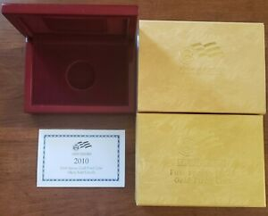 2010 PROOF MARY TODD LINCOLN FIRST SPOUSE US MINT OGP BOXES SLEEVE & COA NO COIN