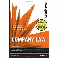 Law Express: Company Law, Good Condition Book, Taylor, Chris, ISBN 9781292012926