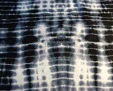 Modischer Viskose-Jersey, Batik, schwarz-petrol-weiß, 150cm