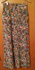 "009 Vintage Homemade Floral Full Length Skirt Front Pockets 29"" Waist"