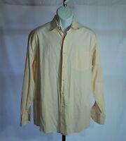 Tommy Bahama 100% Cotton White Striped Long Sleeve Dress Shirt Men's Sz 16