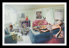 More details for framed & mounted marillion music band original promo poster art print a4