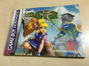 LADY SIA manual for the Nintendo Game Boy Advance no game