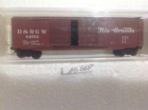 RIO GRANDE KADEE MICRO-TRAINS BLUE LABEL DRGW 50' DOUBLE DOOR BOX CAR#34105