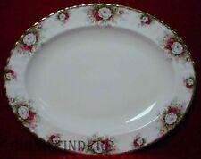 "ROYAL ALBERT china CELEBRATION pattern Oval Serving Platter @ 13-5/8"""
