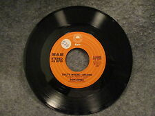 "45 RPM 7"" Record Tom Jones Thats Where I Belong & What A Night 1977 Epic 8-50468"