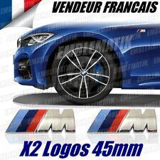 X2 Logo Ailes M Tech Badge 45mm BMW E46 E90 E92 E81 F30 Insigne M3 M4 M5 Sticker