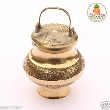 Ganga Jali Kalash Pot (Brass) for Holy Ganga Jal / Water / Gangotri (Empty)