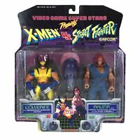 Wolverine Akuma X-Men vs Street Fighter Action Figures Set Toy Biz 1997 Capcom