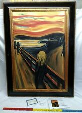 Edvard Munch The Scream Hand Painted Framed Canvas Art 24 x 36 overstock art CAO