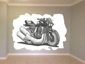 Huge Koolart Cartoon Kawasaki Z1000 Wall Sticker Poster Mural 1708 Black