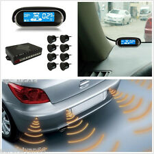 8 Parking Sensors Car Reverse Backup Radar Warning System Dual-core LCD Display