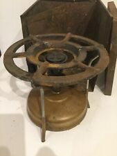 Vintage Optimus Brass Camping Stove With Case