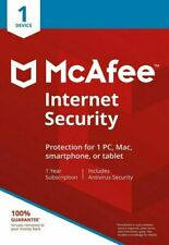 McAfee Internet Security 2020, 1 Device for Windows, Mac OS (MIS00UAM1RAA)