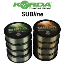 Fishing line (fishing lines) korda subline brown and green 12, 15 and 20lb