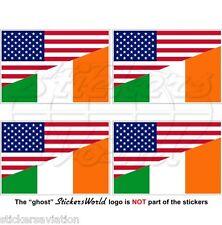USA Amerika & IRLAND Flagge Amerikanische-Irischen Fahne Vinyl Aufkleber 50mm x4