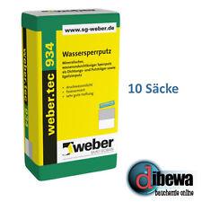weber.tec 934 Wassersperrputz Sperrputz Ausgleichs Putz  10 x 25 kg